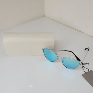 Zara Metal Frame Mirror Lens Cat Eye Sunglasses